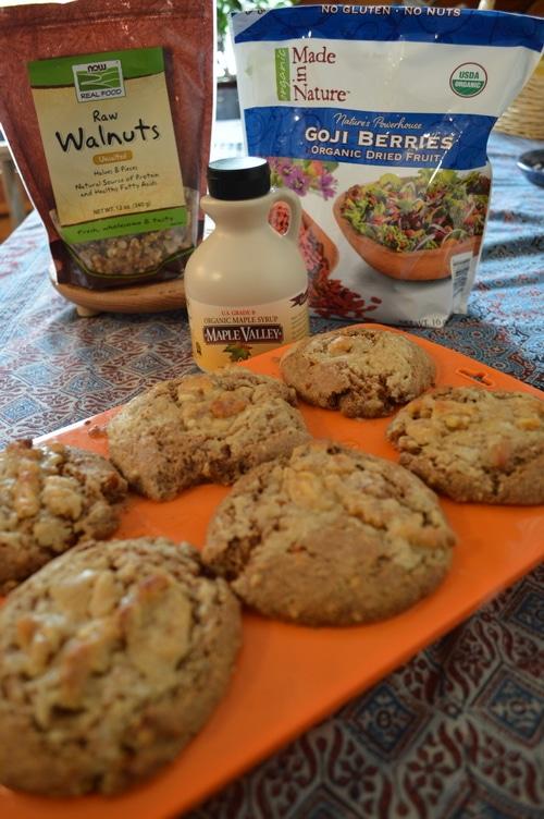 Breakfast muffin: Maple Walnut muffin with Goji Berries - Joybilee Farm