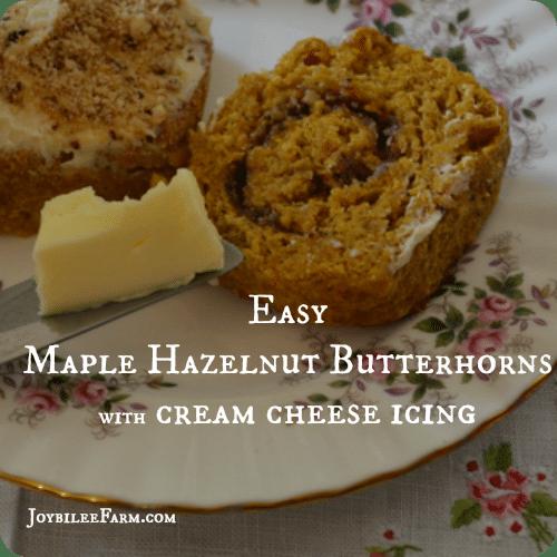 Maple Hazelnut Butterhorns