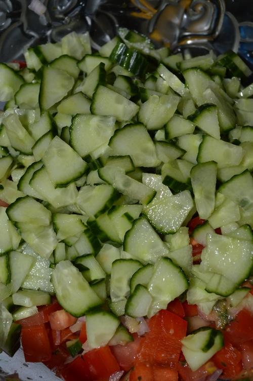 Summer salad recipes: Israeli salad recipe with fresh lemon-mint dressing -- Joybilee Farm
