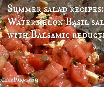 Watermelon Basil Salad with Balsamic Reduction