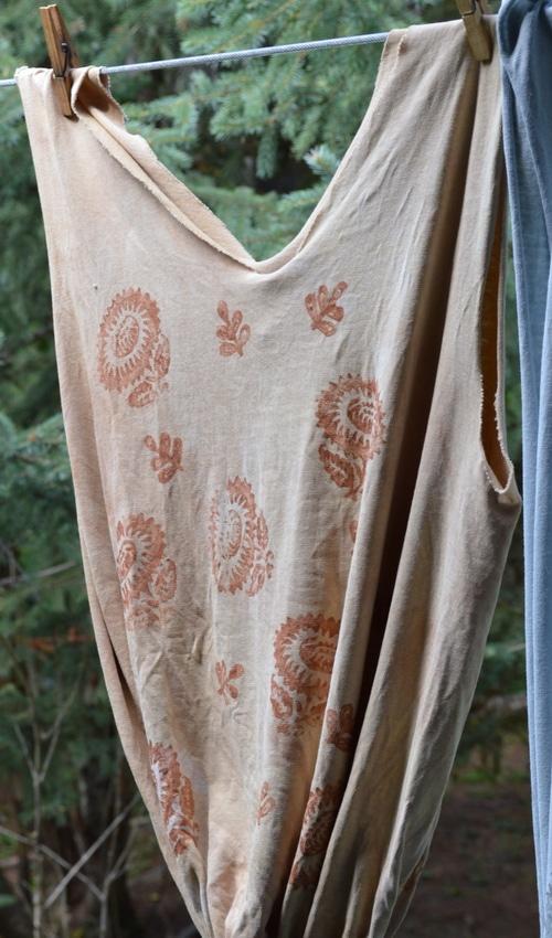 Tshirt bag walnut dyed