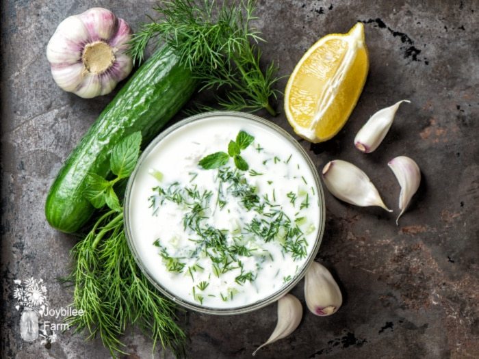 Use this tasty tzatziki recipe to make a healthier version of store bought tzatziki sauce and save money, too. Your taste buds will love it!