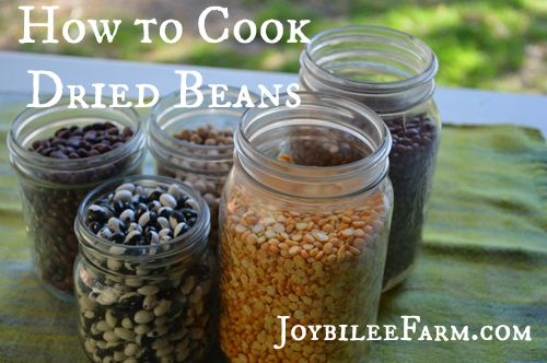 How to cook dried beans small