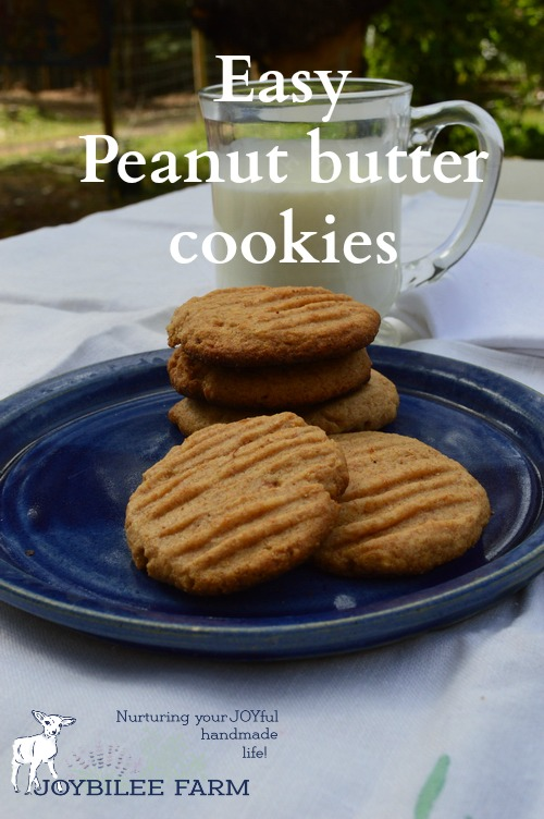 Peanut butter cookies are quick to make and nutritious.