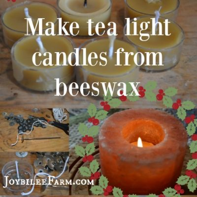 Make Tea Light Candles from Beeswax