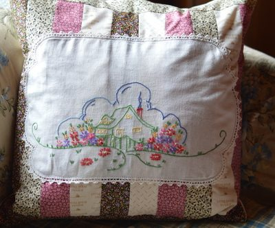 Make a Patchwork Pillow with Vintage Linens