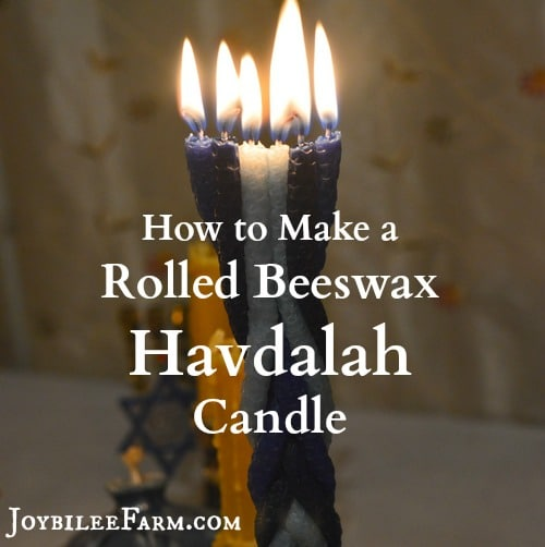 How to make a rolled beeswax havdalah candle small