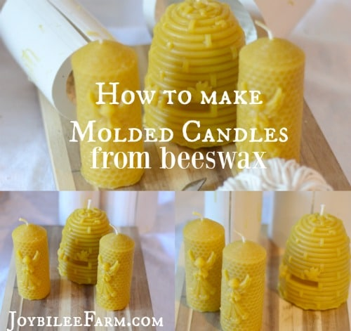 How to make a candle -- molded candles -- Joybilee Farm