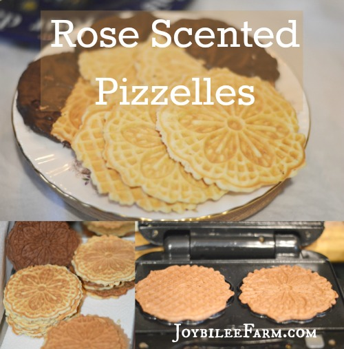 Rose scented Pizzelles small