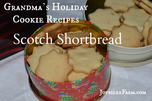 The original shortbread cookie recipe has only 3 simple ingredients, flour, sugar, and real butter. I've updated it with organic sugar and unbleached organic flour from Bob's Red Mill. -- Joybilee Farm
