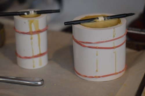 candles in molds