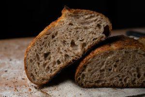 Close up of sliced sourdough bread