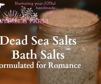 Bath Salts with Dead Sea Salt