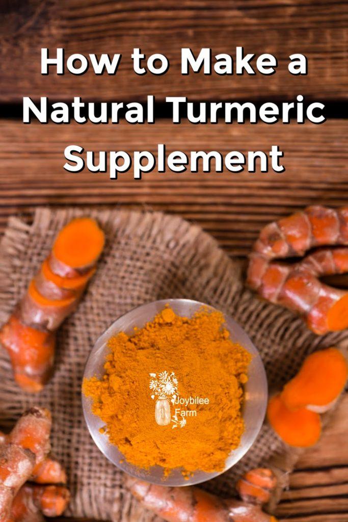 Fresh turmeric, ground turmeric on a wooden background