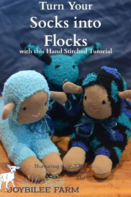 Learn how to make a sock lamb using just hand sewing stitches with this tutorial.