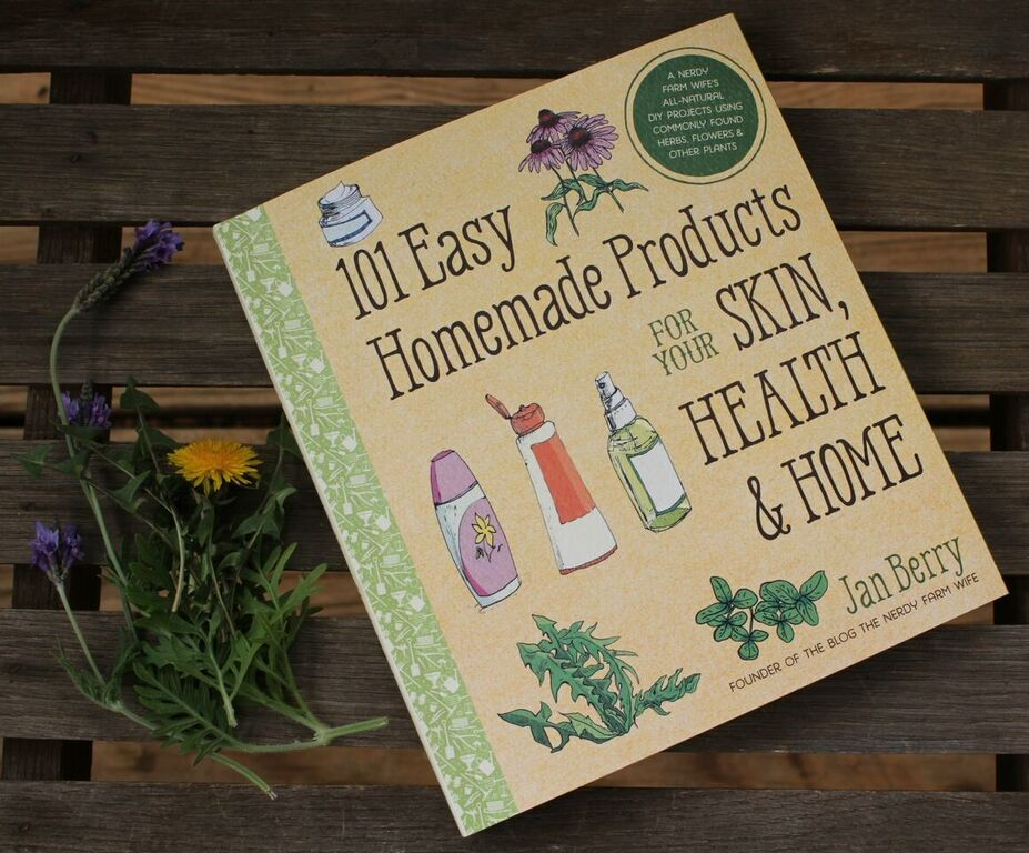 Book cover - 101 easy homemade products for your skin, health & home