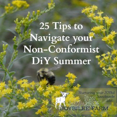 25 Tips to Navigate your Non-Conformist, DiY Summer