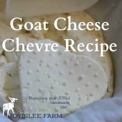 Goat Cheese Chevre Recipe