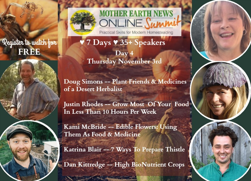 Mother Earth News Online Homestead Summit