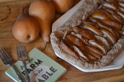 Low on added sugar and high on flavour this pear tart is tasty enough for dessert yet healthy enough for breakfast, brunch, lunch, or afternoon tea. Make it while the pears are ripe. It is a superb fall dish.