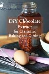 Chocolate extract is a deeply flavourful extract that can be used in the place of vanilla extract in chocolate desserts. It adds a special touch to chocolate chip cookies, pastries, and even whipped cream and frosting. It takes only a few hands-on minutes to make and then a month to steep.