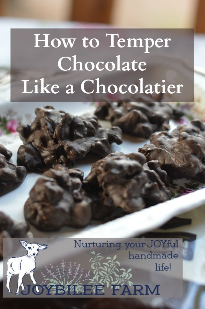 Professionals create chocolates that have snap, sheen, and a smooth mouth feel. Their chocolates don't have streaks. The texture is crisp rather than crumbly. The secret that professional chocolatiers know that amateurs don't has to do with tempering the chocolate before you use it.