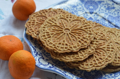 Pizzelle wafer cookie