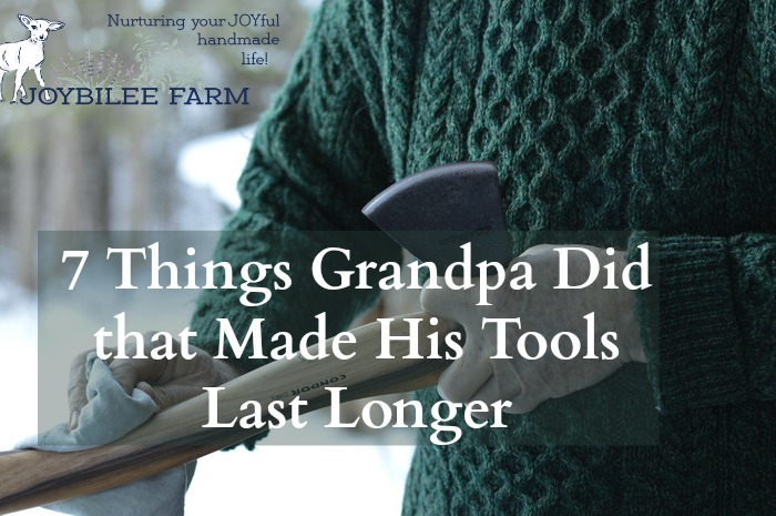 Have you noticed that tools from Grandpa's era seem to have a much longer lifespan than the tools we get at the hardware store now? In fact you may even have a few of grandpa's tools in your garage. Those tools just lasted longer. Is the metal weaker now? Are the tool handles less robust? Or did Grandpa know something about tool maintenance that we don't?