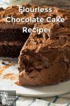 Chocolate layer cake with chocolate icing