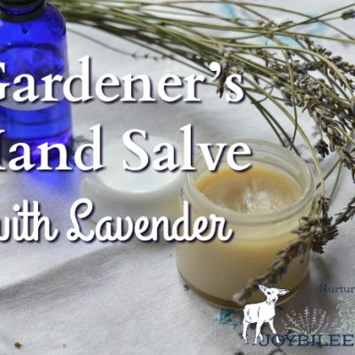 Gardener's Hand Salve with Lavender