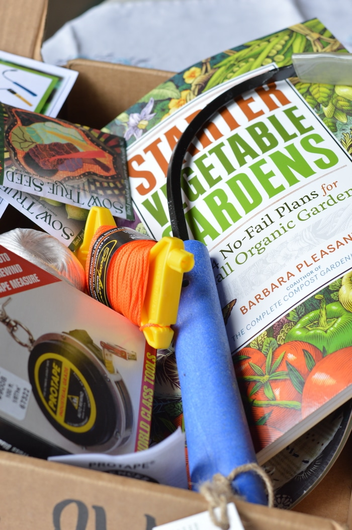 planting kit including book, packages of seed, etc