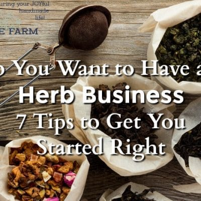 So You Want to Have an Herb Business — 7 Tips to Get You Started Right