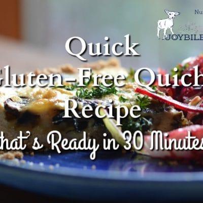 Quick Gluten-Free Quiche Recipe that's Ready in 30 Minutes