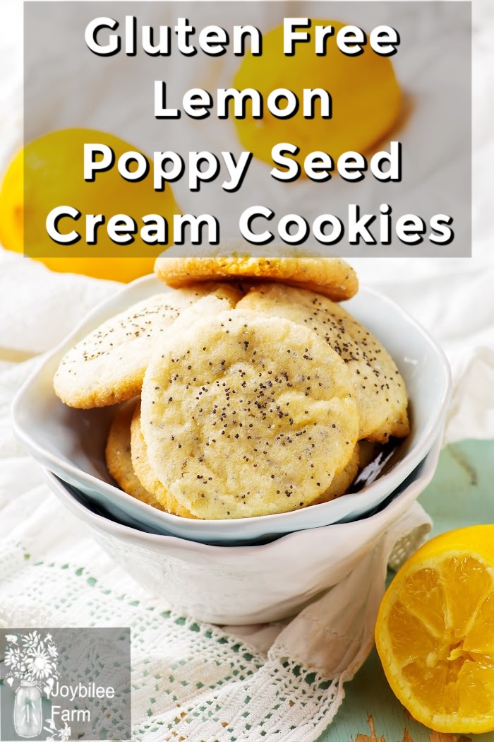 Gluten-free Lemon Poppy Seed Cream Cookies
