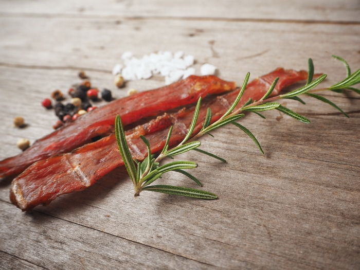 3 dehydrator beef jerky recipes. These dehydrator jerky recipes can be made with any lean red meat like beef, lamb, goat, venison, moose, or elk. Beef is the most common choice but other red meats can be used successfully.