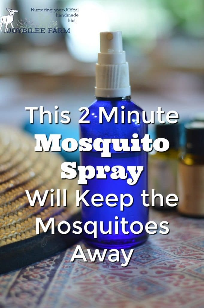 Make this 2 minute mosquito spray when the mosquitoes are getting the upper hand. This effective spray is just the what you need to keep from getting bitten