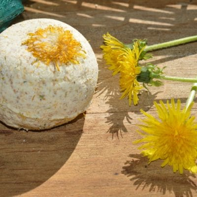 DIY Dandelion Bath Bombs to Soothe Sore Muscles
