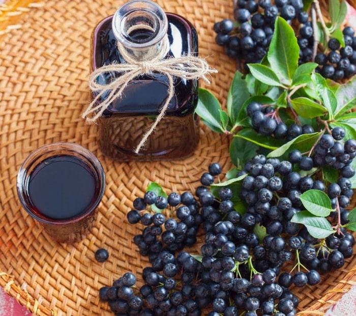 wild berries -- choke berries