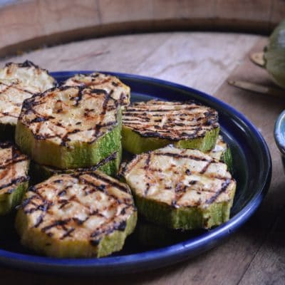 Grilled Zucchini Marinated in Aioli and Lime Juice