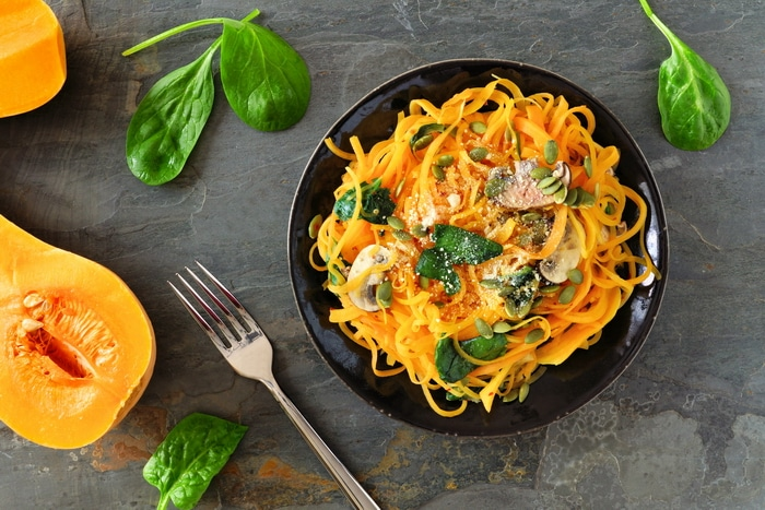 Sesame veggie noodles are easy to make with the bountiful harvest of autumn. Zucchini noodles are not the only option though. Carrots, beets, parsnips, yams, winter squash, and so many other vegetables are well suited to this recipe.