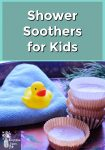 Shower Soothers, a face cloth and a rubber ducky