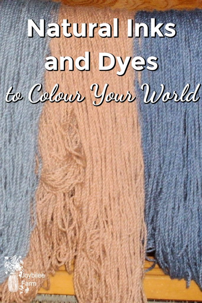 natural inks and dyes