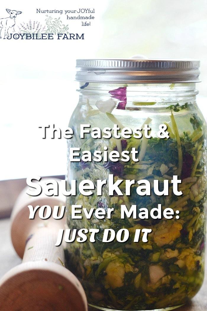 Small batch sauerkraut