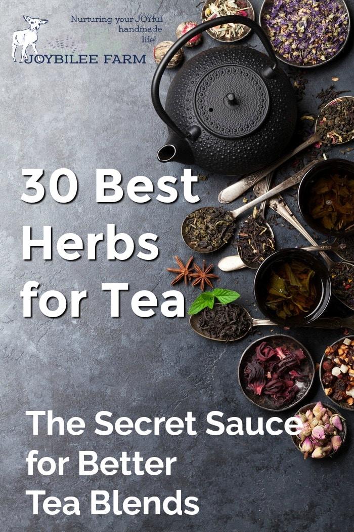 30 herbs for the best tea blends