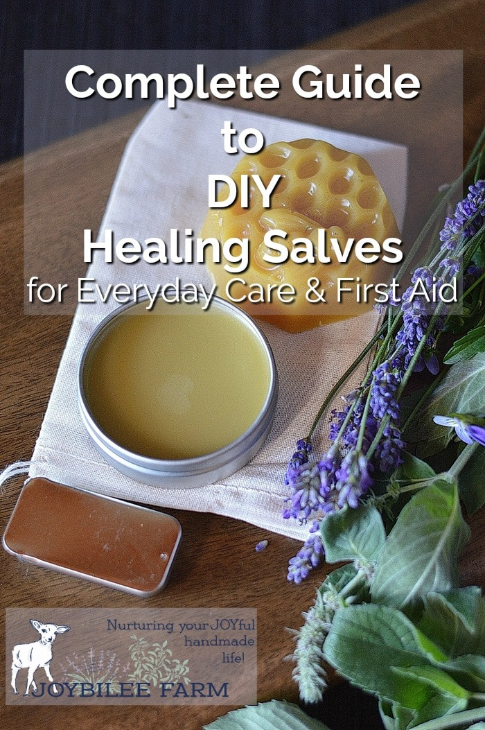 healing Salves by fresh lavender and other herbs