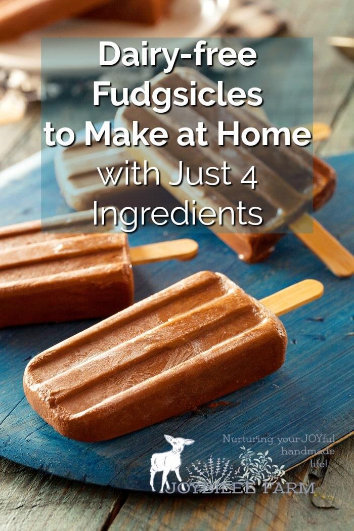 Homemade fudgsicles