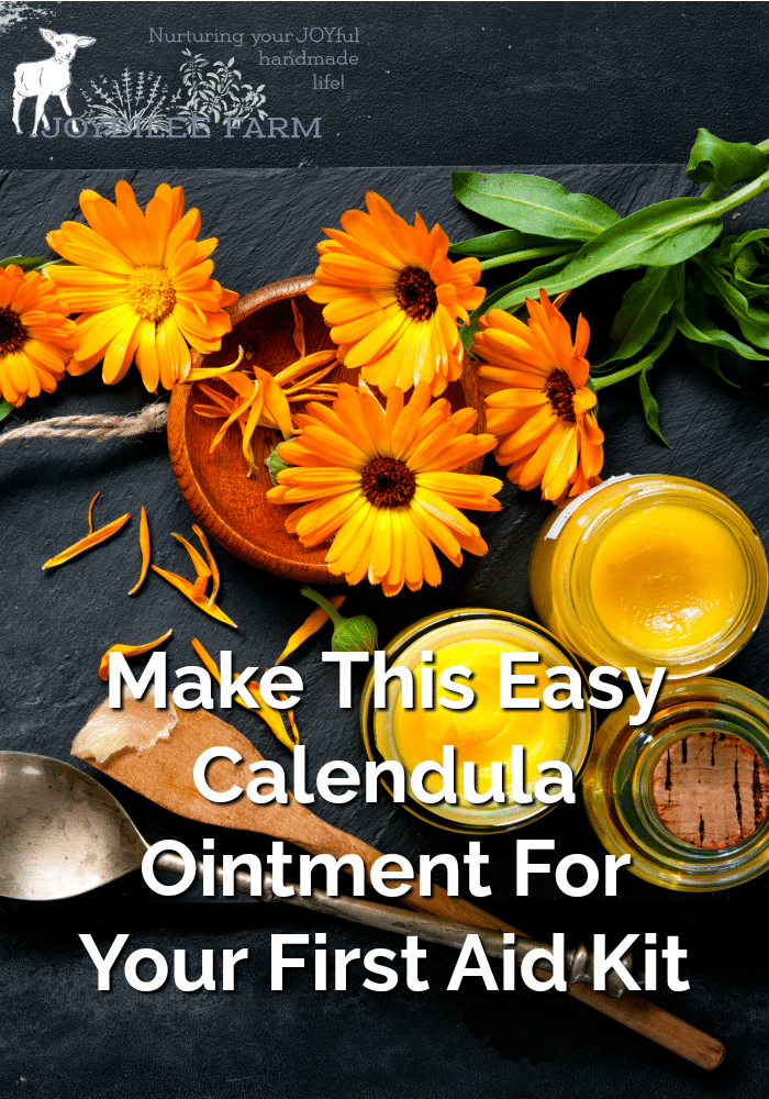 Orange calendula flowers and salves in glass jars