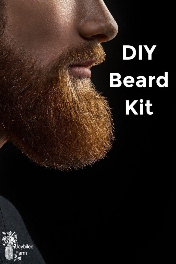 Profile shot of a man's beard