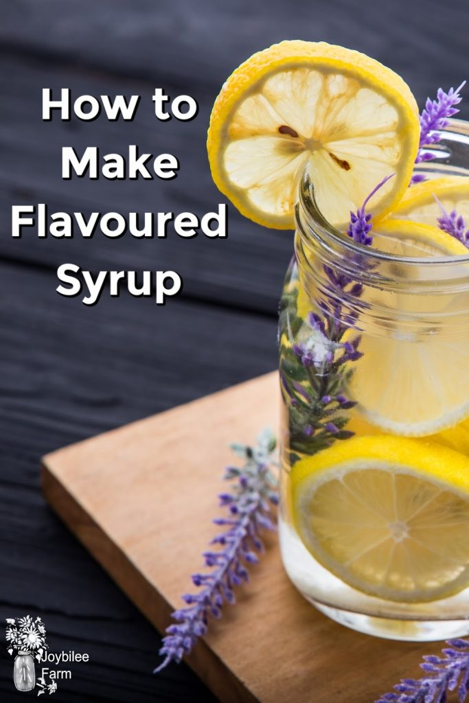 Water with lemons and lavender