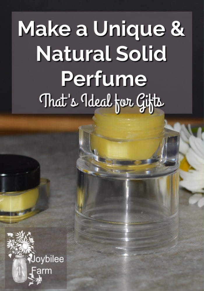 solid perfume in a plastic dispenser